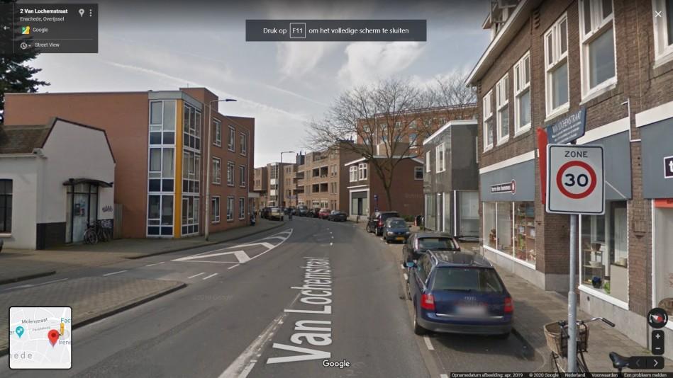 Boete geslotenverklaring Van Locehemstraat